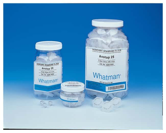 Cytiva (Formerly GE Healthcare Life Sciences) Whatman™ Anotop™ 25 Plus Non-Sterile Syringe Filters: Syringe and Syringeless Filters Filtration