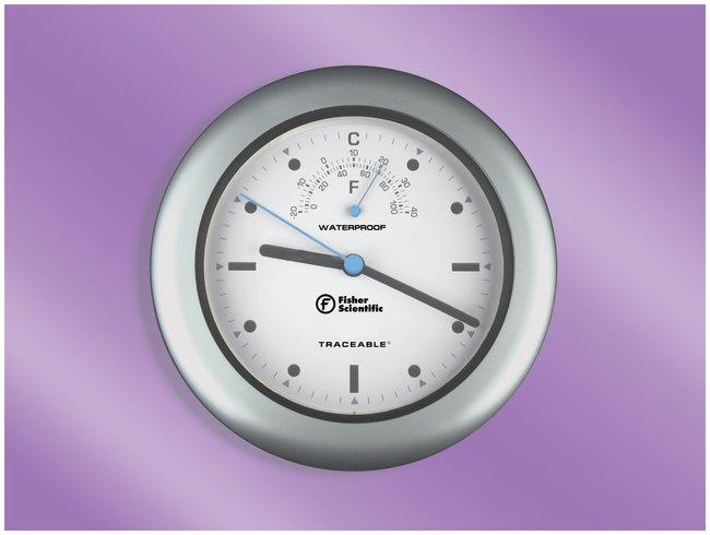Fisherbrand™ Traceable™ Waterproof Indoor/Outdoor Clock Waterproof ...