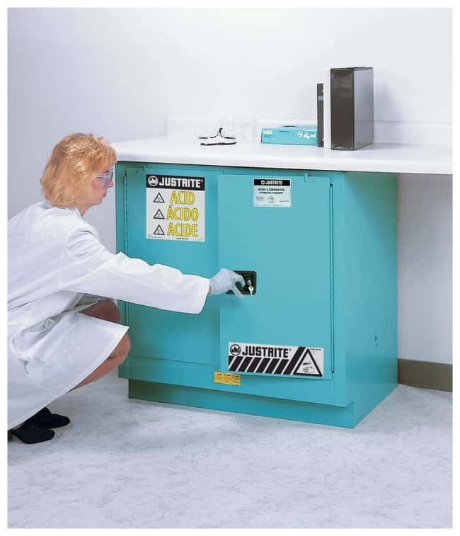 Justrite™ Sure-Grip™ EX Undercounter Corrosives/Acid Steel Safety Cabinet