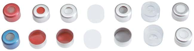 Thermo Scientific Aluminum Crimp Seals with Prefitted Septa for 8mm Crimp