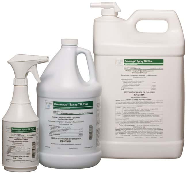 SterisCoverage Spray TB Plus Ready-to-Use Disinfectant Cleaner 1 gal. (3.8L):Laboratory