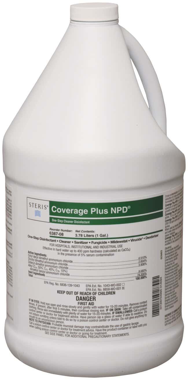 Steris Coverage Plus NPD Cleaner Disinfectant 1 gal. (3.8L):Testing and