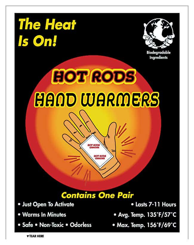 OccuNomix Hot Rods Warming Pack Hand Warmers:Gloves, Glasses and Safety