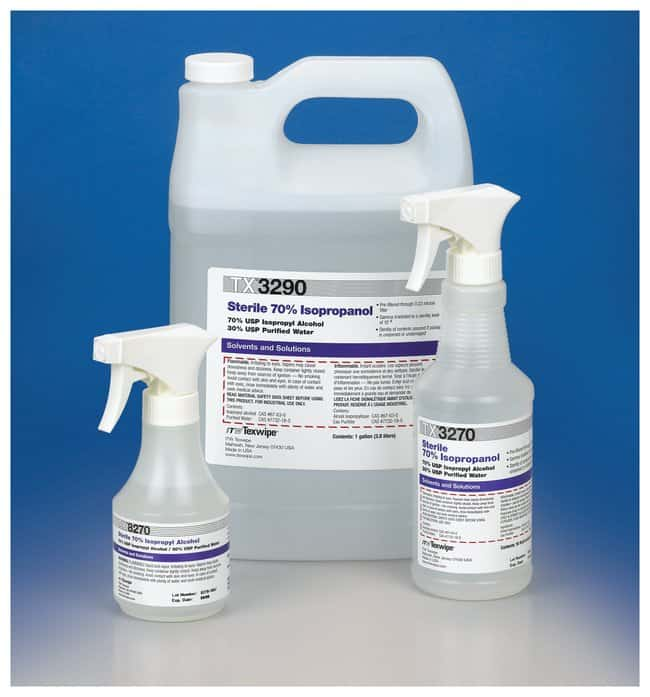 Texwipe Sterile 70% Isopropanol:Testing and Filtration:Food and Beverage