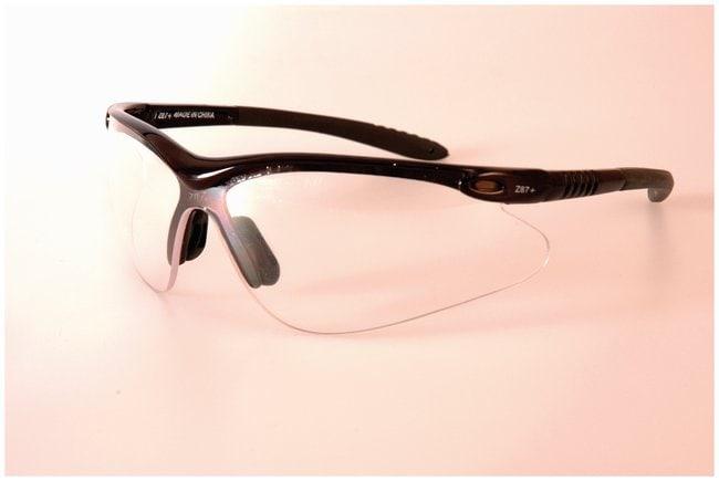 FisherbrandRacer Series Qualifier Eyewear Black frame; Clear lens:Gloves,