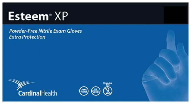 Cardinal Health™ Esteem™ XP Stretchy Powder-Free Nitrile Exam Gloves