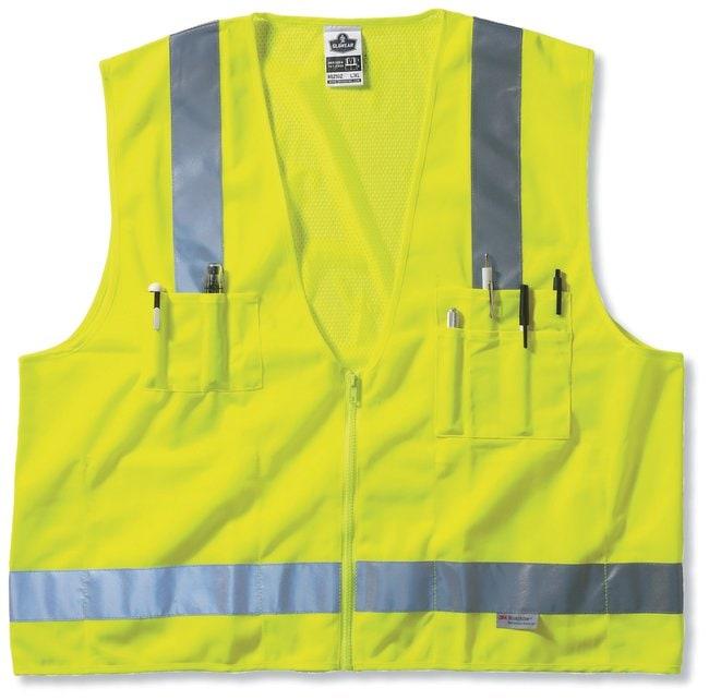 Ergodyne GloWear 8250Z Type R Class 2 Surveyors Vest:Gloves, Glasses and