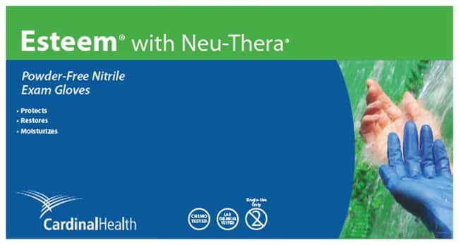 Cardinal Health Esteem Nitrile Gloves with Neu-Thera:Gloves, Glasses and