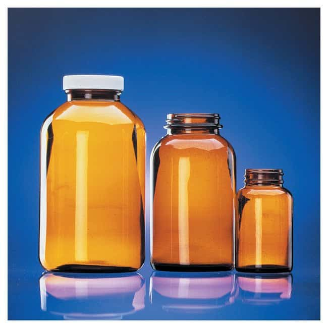 Fisherbrand™Certified Cleaned Amber Wide Mouth Packer Bottles