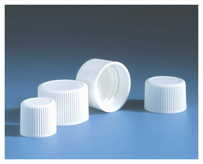 Fisherbrand™ Foamed PE-Lined Polypropylene White Caps