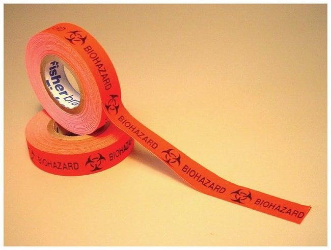 Fisherbrand™Biohazard Warning Tape 500L x 0.50 in. W (1270 x 1.3cm) in roll Shipping Labels