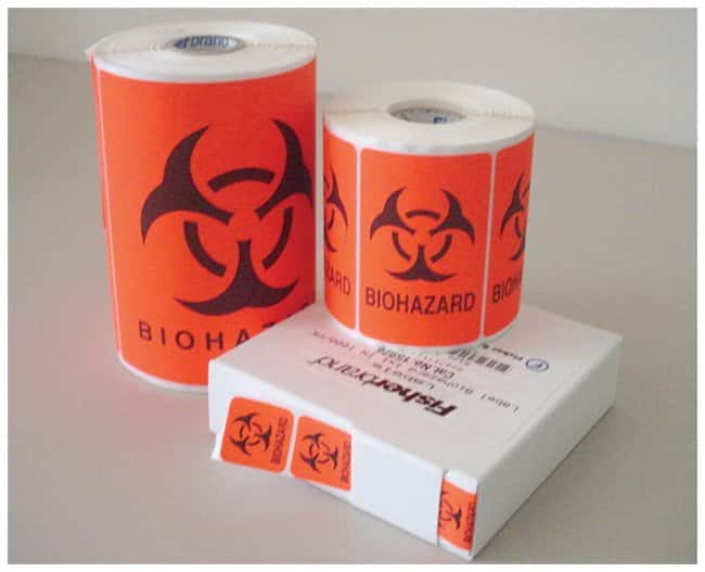 Fisherbrand Biohazard Labels:Gloves, Glasses and Safety:Facility Maintenance