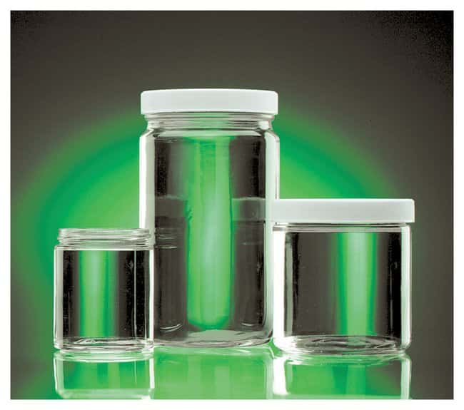 DWK Life SciencesWheaton™ Clear Straight-Sided Jars with Polyvinyl-lined Caps Convenience pack; Capacity: 8 oz. (240mL) DWK Life SciencesWheaton™ Clear Straight-Sided Jars with Polyvinyl-lined Caps