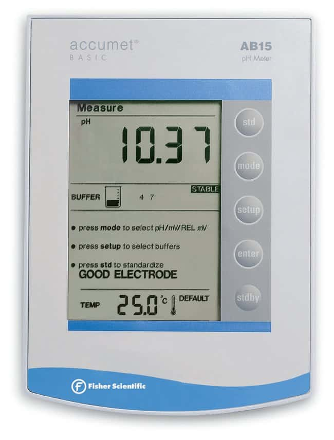 fisherbrand accumet ab15 basic and biobasic ph mv c meters thermometers rh fishersci com accumet basic ab15 ph meter user manual accumet ab15 ph meter user manual