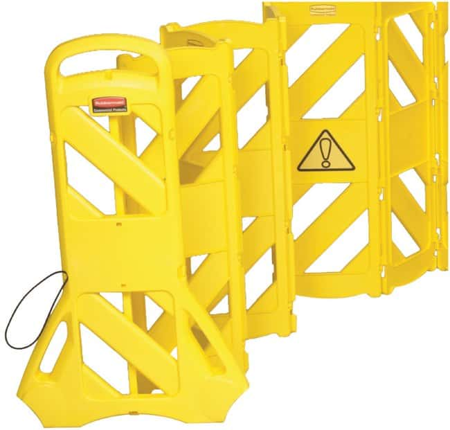 Rubbermaid Mobile Barrier Barrier Portable 13x16 Ea:Gloves, Glasses and