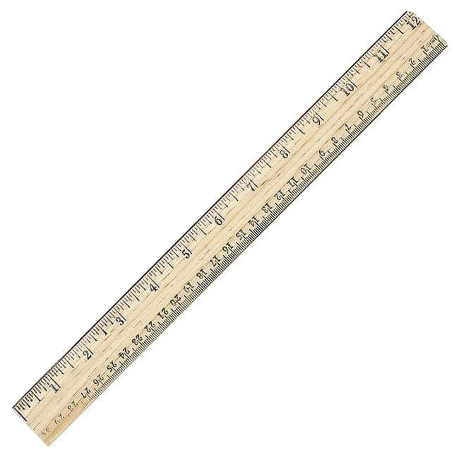 Ruler with Metal Edge
