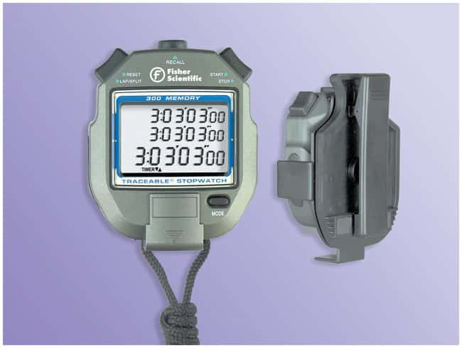 Fisherbrand™300 Memory Water-Resistant Stopwatch Water-resistant stopwatch Classroom Timing