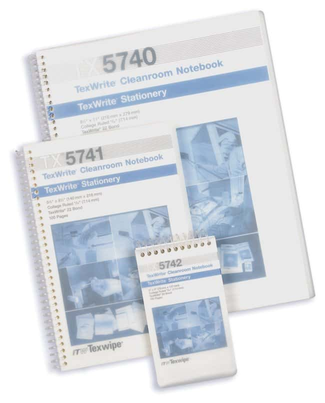 Texwipe Cleanroom Spiral Notebooks:Gloves, Glasses and Safety:Controlled