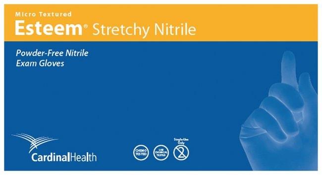 Cardinal Health Esteem Stretchy Micro-Textured Nitrile Exam Gloves, 3.9mil:Gloves,