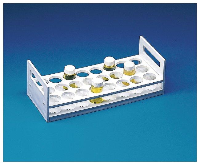 Bel-Art™GESTELL FUER 24 FLAESCHCHEN D30MM D30MM Holds 24 vials (30mm dia.) Reagenzglasständer