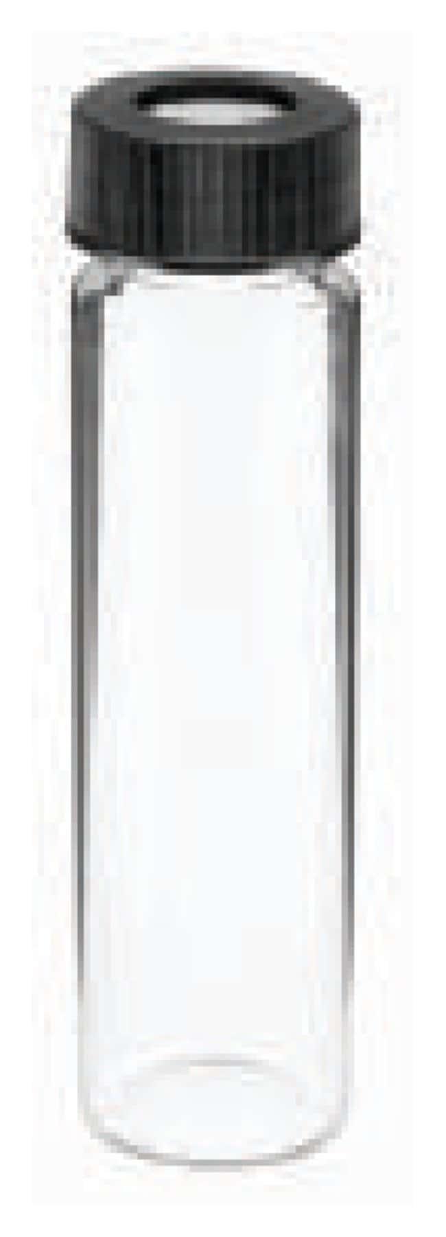 DWK Life SciencesKimble™ Glass Screw-Thread Sample Vials with PTFE/Silicone Septa and Open-Top Polypropylene Closure Glass; GPI 18-400, 16mL DWK Life SciencesKimble™ Glass Screw-Thread Sample Vials with PTFE/Silicone Septa and Open-Top Polypropylene Closure
