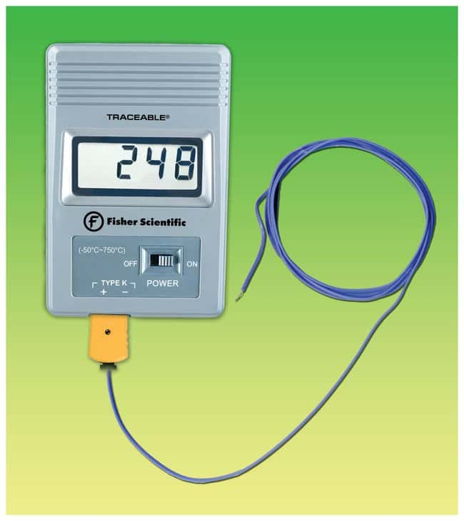Fisherbrand™ Traceable™ Pocket-Size Thermometer Celsius scale; Range: -50° to +750°C Fisherbrand™ Traceable™ Pocket-Size Thermometer