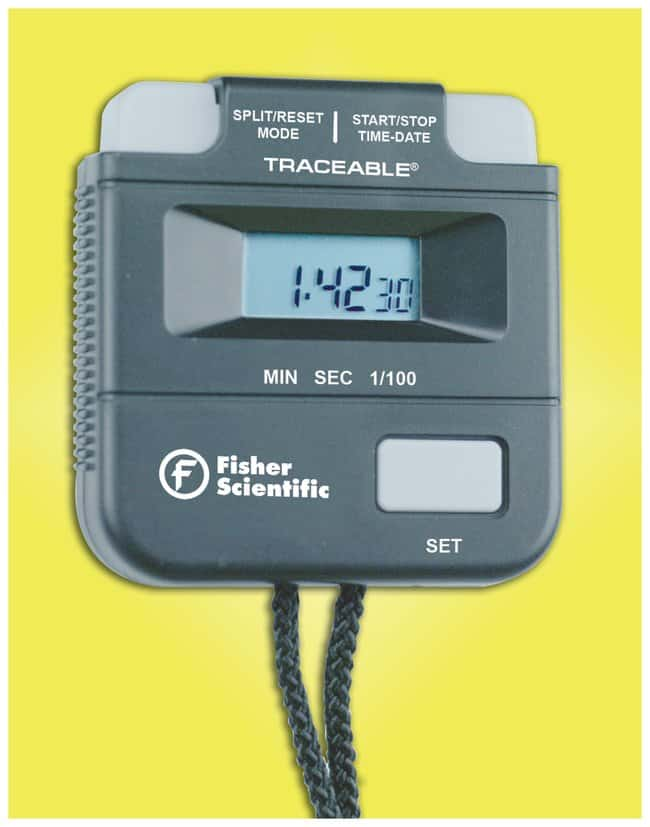 Fisherbrand Traceable One-Hour Digital Stopwatch One-Hour Digital Stopwatch:Thermometers,