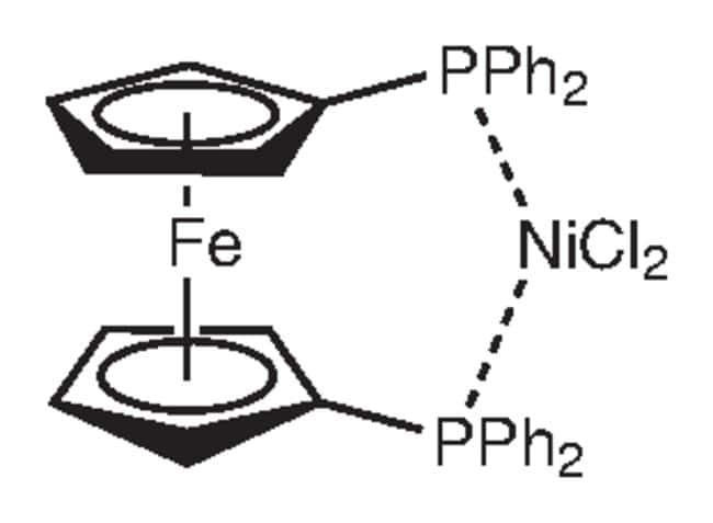 Dicloro[1,1'-bis(difenilfosfina)ferroceno]níquel(II), 99%, Alfa Aesar™ 1g Dicloro[1,1'-bis(difenilfosfina)ferroceno]níquel(II), 99%, Alfa Aesar™