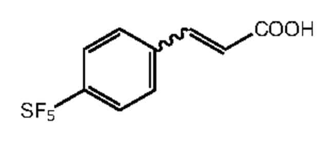 Alfa Aesar™4-(Pentafluorothio)cinnamic acid, 97% 5g Products