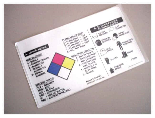 Fisherbrand NFR Self-Laminating Labels :Gloves, Glasses and Safety:Facility