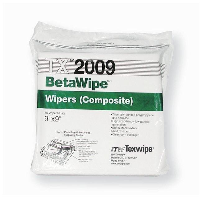 Texwipe™BetaWipe™ Wischtücher aus Mischgewebe mit Baumwolle und Schaumstoff 9 X 9in. Wischtücher für definierte Umgebungsbedingungen