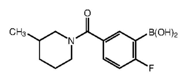 Alfa Aesar™2-Fluoro-5-(3-methyl-1-piperidinylcarbonyl)benzeneboronic acid, 97% 1g Alfa Aesar™2-Fluoro-5-(3-methyl-1-piperidinylcarbonyl)benzeneboronic acid, 97%