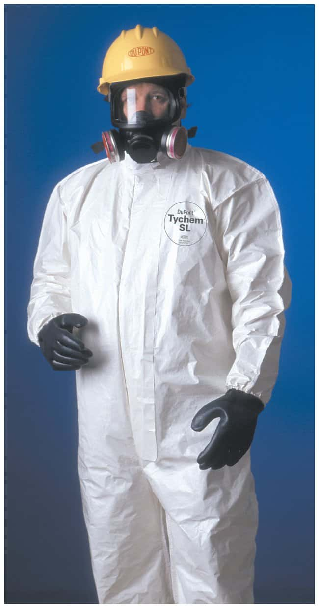 DuPont Tychem 4000 Series 125 Coveralls Collar, elastic wrists and ankles;