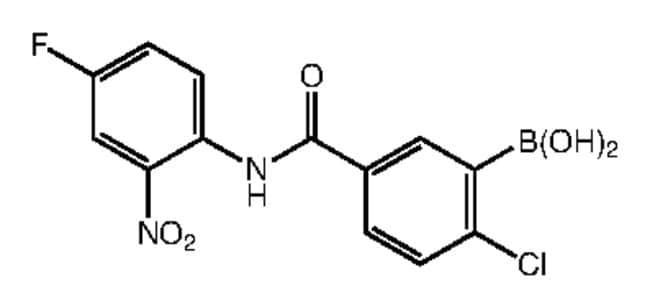 Alfa Aesar™2-Chloro-5-(4-fluoro-2-nitrophenylcarbamoyl)benzeneboronic acid, 97% 1g Products