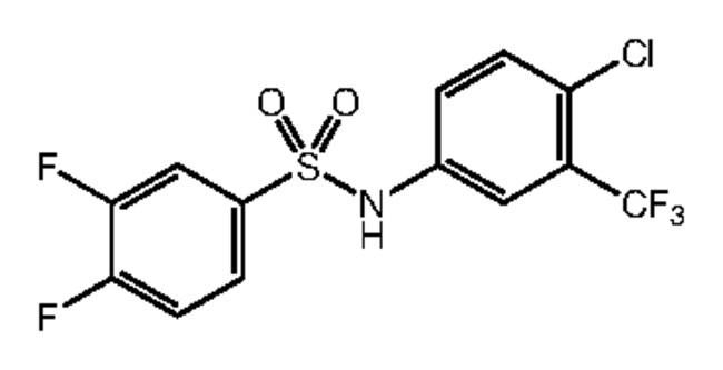 N-[4-Chloro-3-(trifluoromethyl)phenyl]-3,4-difluorobenzenesulfonamide, 97%, Alfa Aesar™ 250mg Ver productos