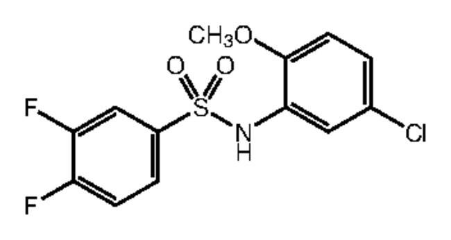 Alfa Aesar™N-(5-Chloro-2-methoxyphenyl)-3,4-difluorobenzenesulfonamide, 97% 250mg Ver productos