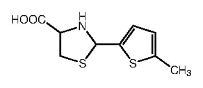 Alfa Aesar™2-(5-Methyl-2-thienyl)thiazolidine-4-carboxylic acid, 97% 5g Ver productos