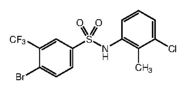 Alfa Aesar™4-Bromo-N-(3-chloro-2-methylphenyl)-3-(trifluoromethyl)benzenesulfonamide, 97% 1g Ver productos