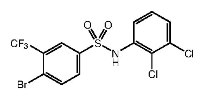 Alfa Aesar™4-Bromo-N-(2,3-dichlorophenyl)-3-(trifluoromethyl)benzenesulfonamide, 97% 250mg Ver productos