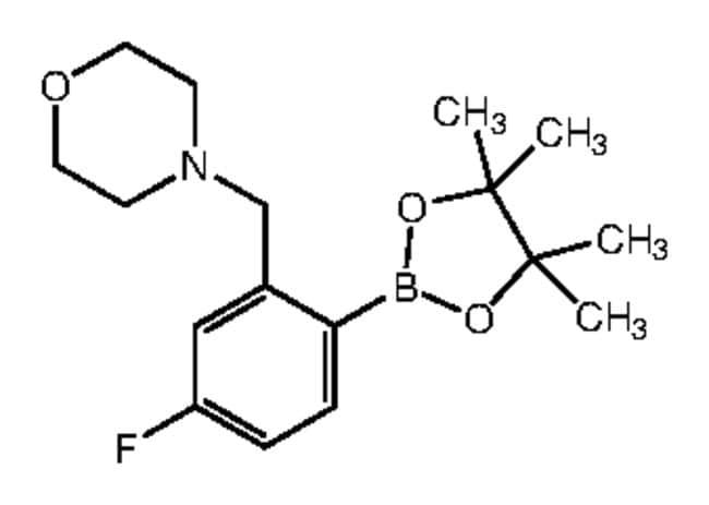 Alfa Aesar™4-Fluoro-2-(4-morpholinylmethyl)benzeneboronic acid pinacol ester, 96% 250mg Products