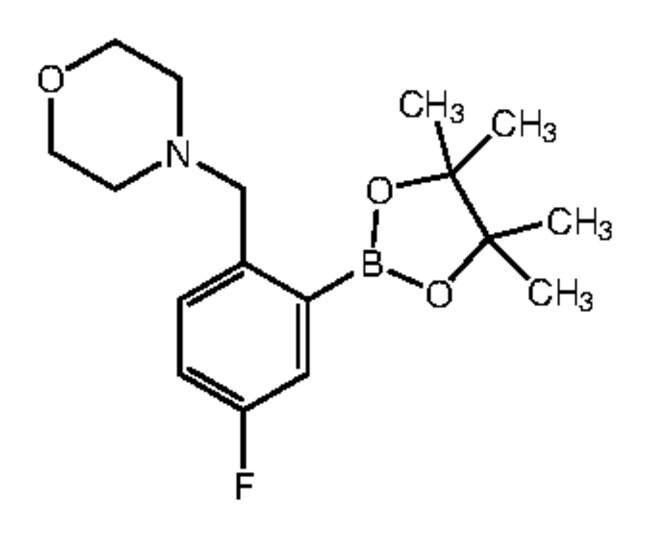 Alfa Aesar™5-Fluor-2-(4-morpholinylmethyl)benzenboronsäure-Pinacolester, 96% 1g Alfa Aesar™5-Fluor-2-(4-morpholinylmethyl)benzenboronsäure-Pinacolester, 96%