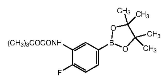 Alfa Aesar™3-(Boc-amino)-4-fluorobenzeneboronic acid pinacol ester, 96% 1g Ver productos