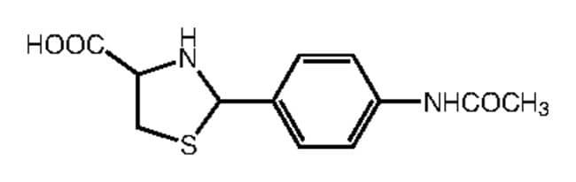 Alfa Aesar™2-(4-Acetamidophenyl)thiazolidine-4-carboxylic acid, 97% 250mg Alfa Aesar™2-(4-Acetamidophenyl)thiazolidine-4-carboxylic acid, 97%
