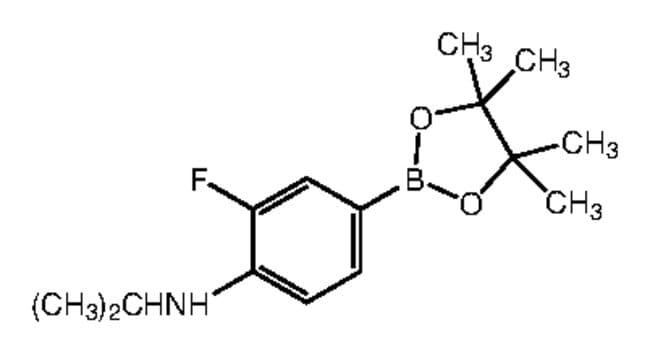 Alfa Aesar™3-Fluoro-4-(isopropylamino)benzeneboronic acid pinacol ester, 96% 250mg Alfa Aesar™3-Fluoro-4-(isopropylamino)benzeneboronic acid pinacol ester, 96%