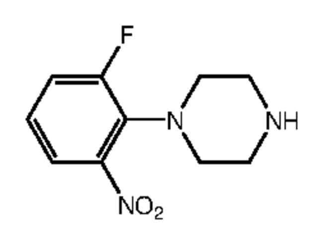 Alfa Aesar™1-(2-Fluoro-6-nitrophenyl)piperazine, 97%: Componentes orgánicos Productos quimicos