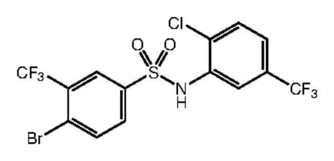 4-Bromo-N-[2-chloro-5-(trifluoromethyl)phenyl]-3-(trifluoromethyl)benzenesulfonamide, 97%, Alfa Aesar™ 1g Ver productos