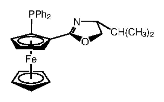 (R,R)-[2-(4-Isopropyl-2-oxazolinyl)ferrocenyl]diphenylphosphine, 97%, Alfa Aesar™ 500mg (R,R)-[2-(4-Isopropyl-2-oxazolinyl)ferrocenyl]diphenylphosphine, 97%, Alfa Aesar™