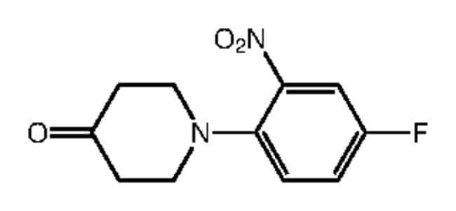 Alfa Aesar™1-(4-Fluoro-2-nitrophenyl)-4-piperidone, 97% 1g Alfa Aesar™1-(4-Fluoro-2-nitrophenyl)-4-piperidone, 97%