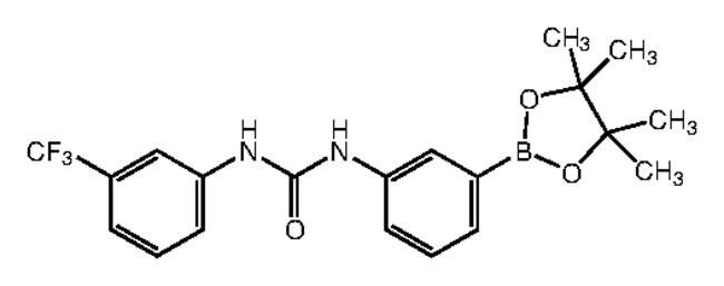 3-(3-[3-(Trifluoromethyl)phenyl]ureido)benzeneboronic acid pinacol ester, 95%, Alfa Aesar™ 250mg Ver productos