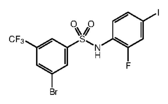 Alfa Aesar™3-Bromo-N-(2-fluoro-4-iodophenyl)-5-(trifluoromethyl)benzenesulfonamide, 97%: Inicio